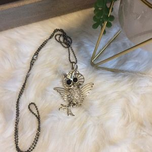 🌹 Long owl necklace with beads and jewels